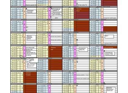 Planning prévisionnel 2020-2021