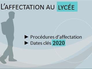 Affectation en 2nde au lycée André Boulloche - Rentrée 2020