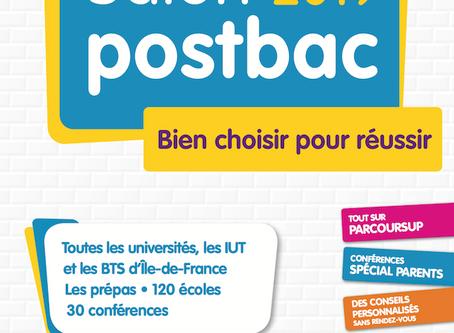 Salon Postbac 2019. 11 et 12/01. Grande halle de la Villette.