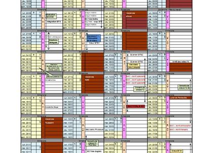 Calendrier prévisionnel 2021/2022