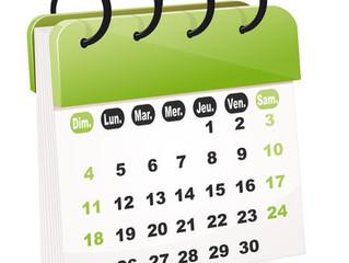 Opérations et calendrier de fin d'année 2nde, 1ere et terminale