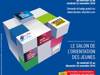 Salon de l'orientation - Salon européen de l'éducation Porte de Versailles à Paris du 23 au 25 novem