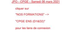 JPO CPGE samedi 06 mars 2021
