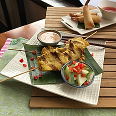 CHICKEN SATAY ON BAMBOO SKEWER
