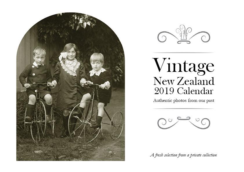 Vintage NZ 2019 Calendar Front Cover