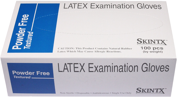 Skintx Latex Powder-Free Exam Gloves, 900xx, Case of 10