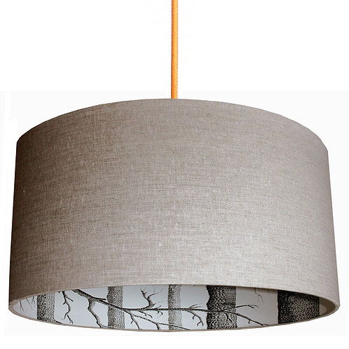 Cole & Son The Woods Wallpaper Silhouette Lampshade in Linen