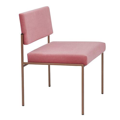 Cube Dining Chair - Velvet Pink