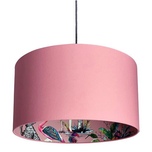 Pink Chimiracle Wallpaper Silhouette Lampshade in Dirty Pink