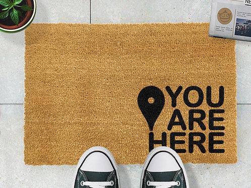 You Are Here Door Mat