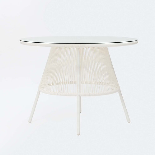 White Acapulco Dining Table
