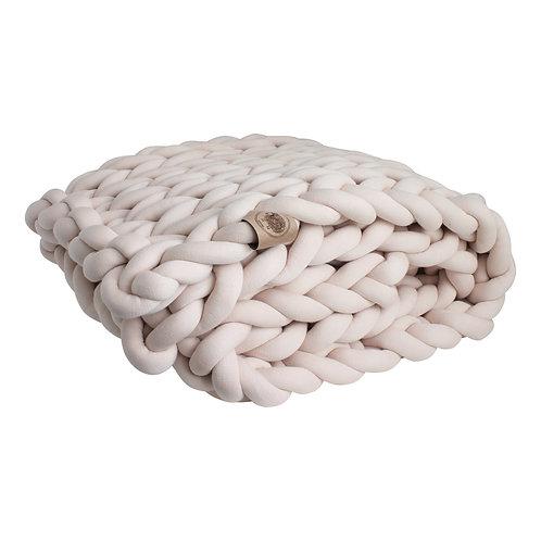 Sand Chunky Knit Throw