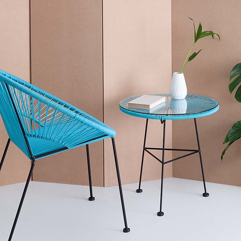 Blue Acapulco Side Table