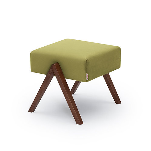Retrostar Footstool - Velvet Apple Green