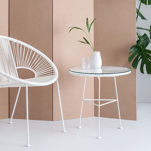 White Acapulco Side Table