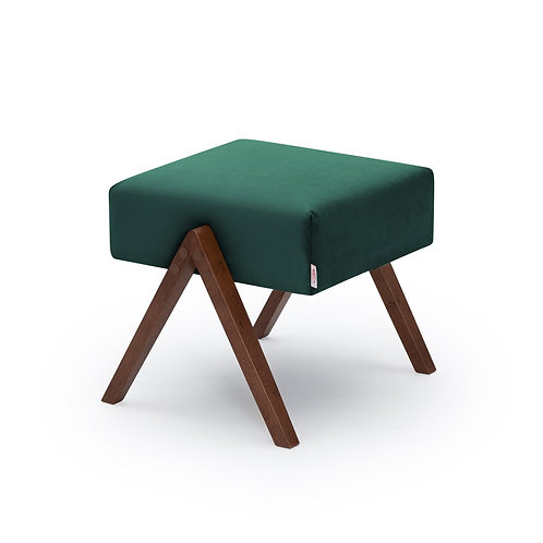 Retrostar Footstool - Velvet Hunter Green