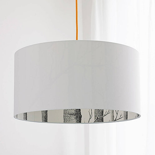 Cole & Son The Woods Wallpaper Silhouette Lampshade in White