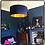 Thumbnail: Midnight Blue Lampshade with Gold Lining
