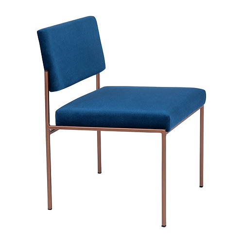Cube Dining Chair - Velvet Royal Blue