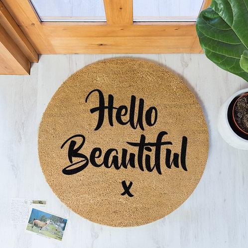 Hello Beautiful Door Mat