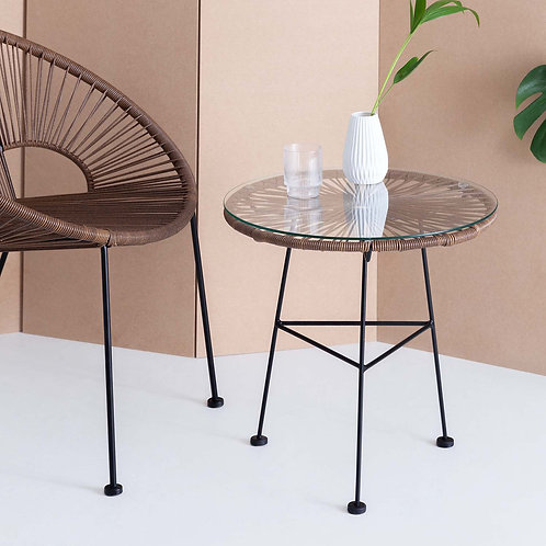 Brown Acapulco Side Table