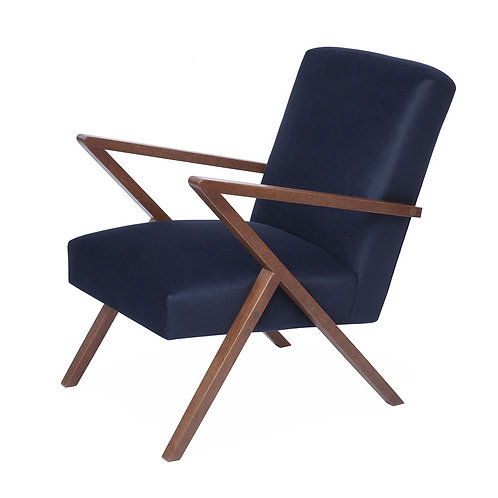 Retrostar Chair - Velvet Navy
