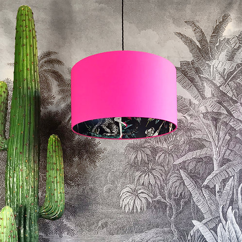 Midnight Chimiracle Wallpaper Silhouette Lampshade in Bubblegum Pink