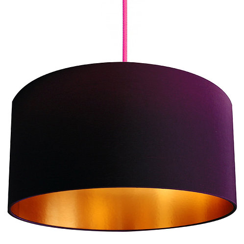 Damson Lampshade with Gold Lining