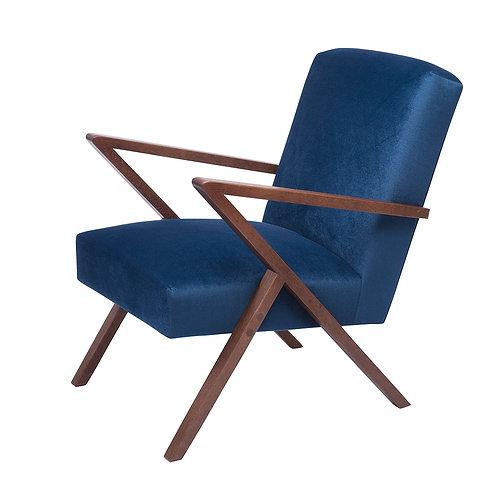 Retrostar Chair - Velvet Royal Blue