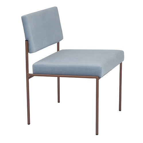 Cube Dining Chair - Velvet Ice Grey
