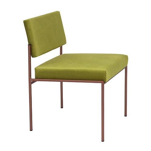 Cube Dining Chair - Velvet Apple Green