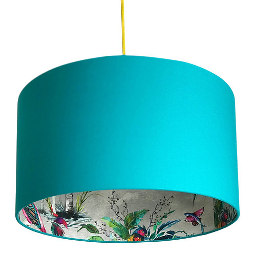 Grey Chimiracle Wallpaper Silhouette Lampshade in Jade Green