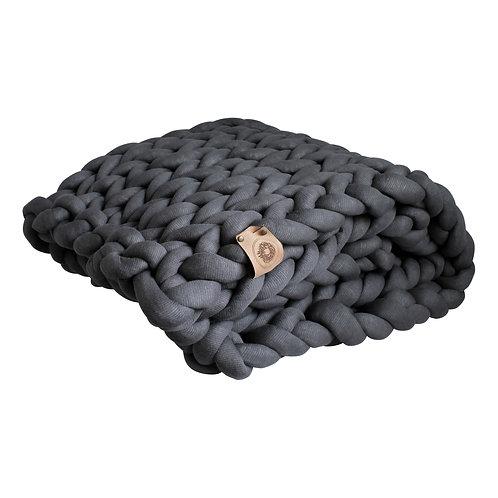 Ash Grey Chunky Knit Throw
