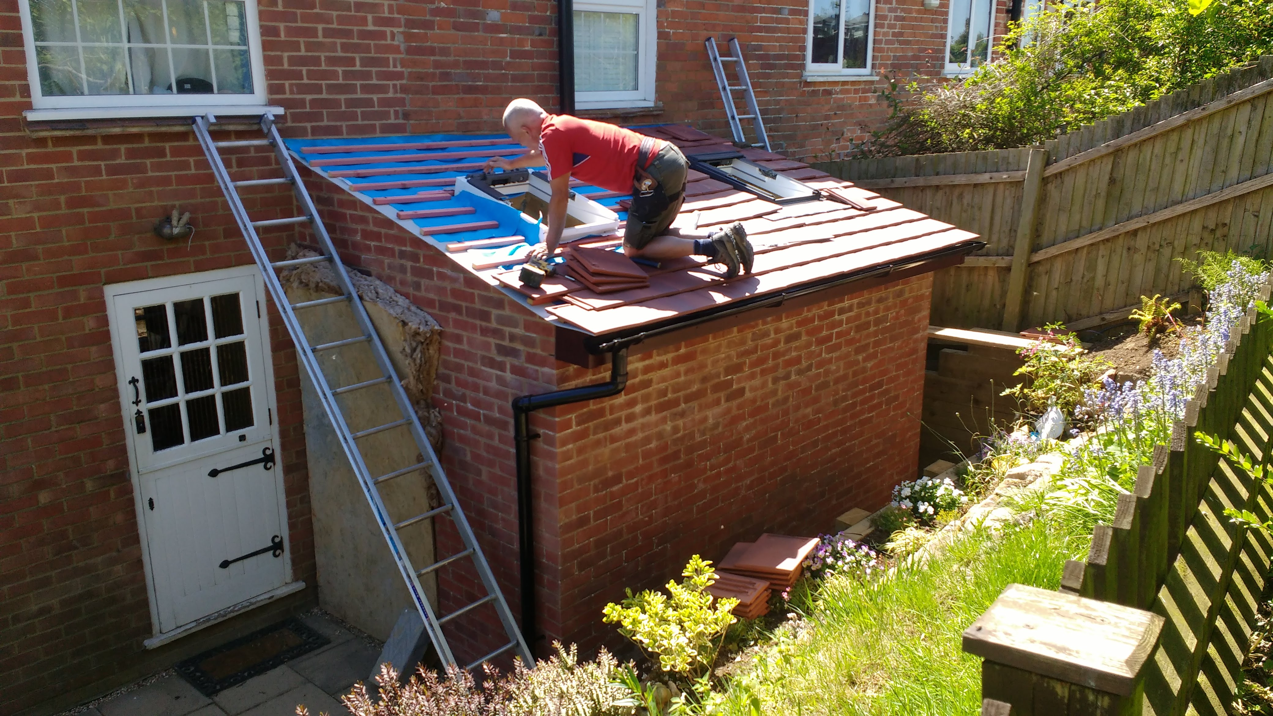 Brick roofing repointing