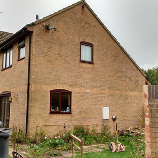 Two-storey extension including kitchen.