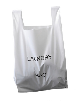 25l White Plastic Laundry Bags With Bag Font Printed On The Front Pack Size 100 Unit Price R4 60 Exvat