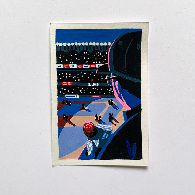 Harlem Stadium NYC painting Paul Sirand 1.jpg