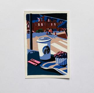 Breakfast in East Village painting Paul Sirand 5.jpg