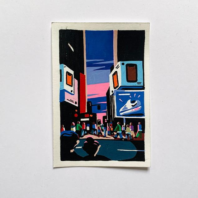 New York Time Square painting Paul Sirand 7.jpg