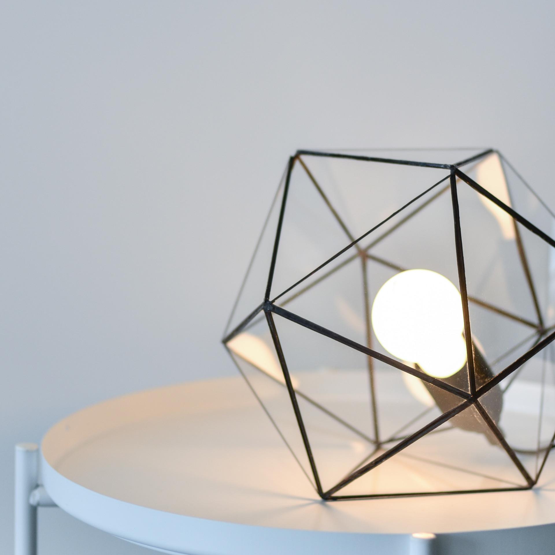 Glass table light
