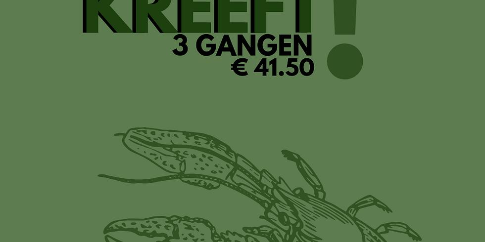 ELKE WOENSDAG KREEFT!