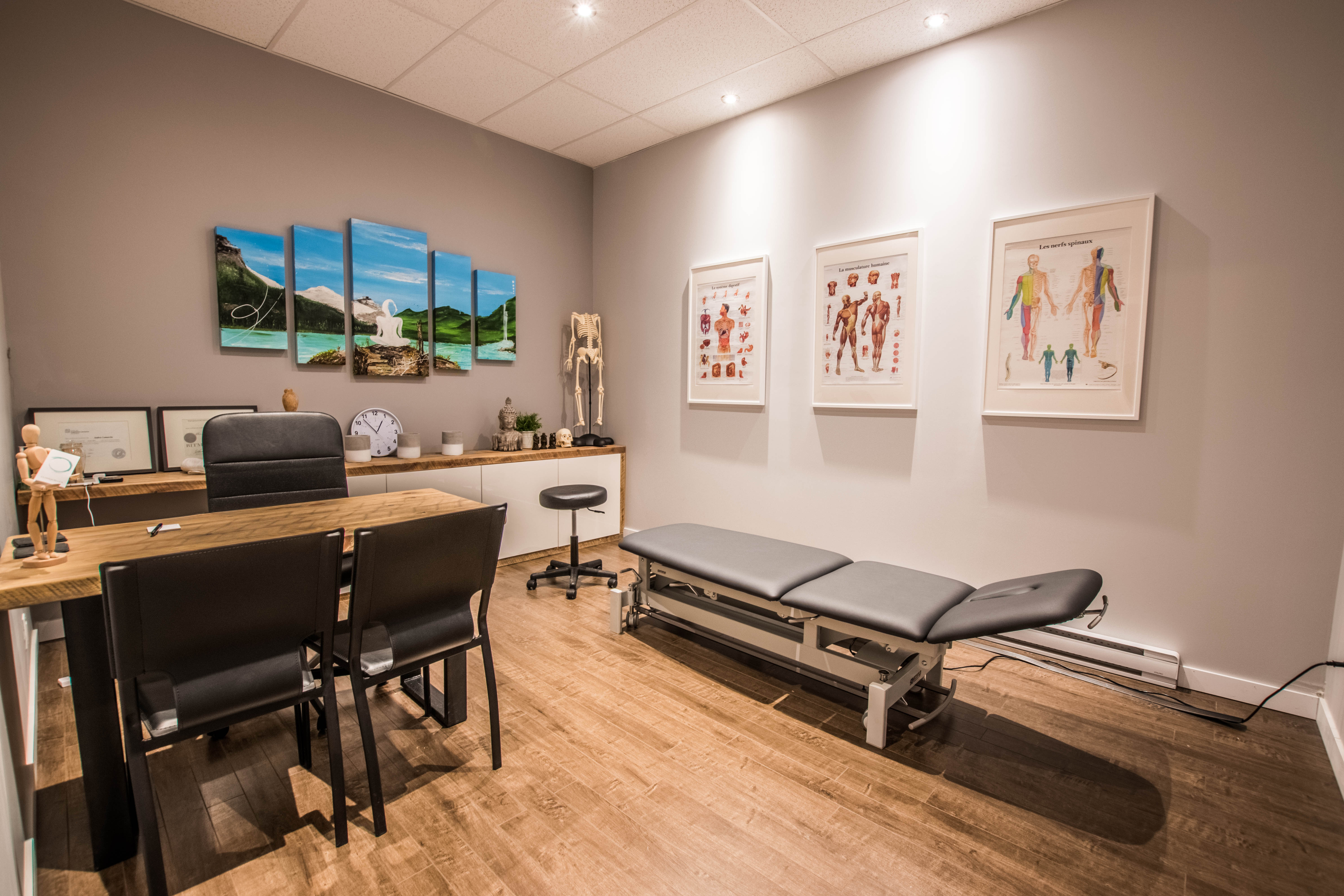 Salle de traitement en ostéopathie