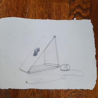 "2020 graphite on handmade paper  7""x 9.5"""