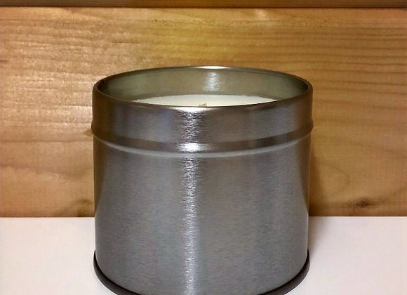 Silver Tin Candle - Clean Cotton