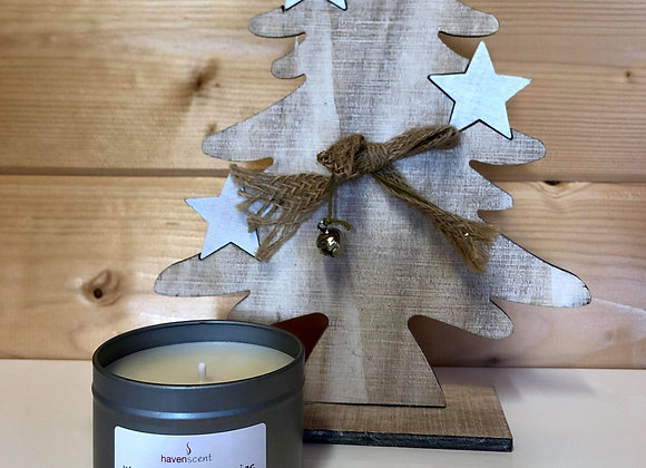 Small Silver Tin candle - Mulled Wine & Berries