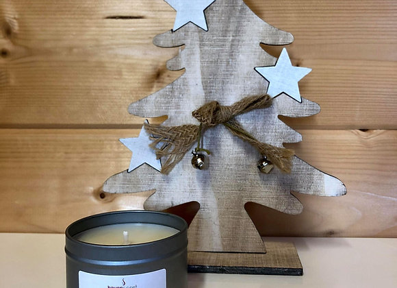 Small Silver Tin candle - Gingerbread