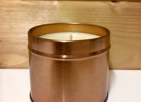 Rose Gold Tin Candle - Fizzy Cola Bottles