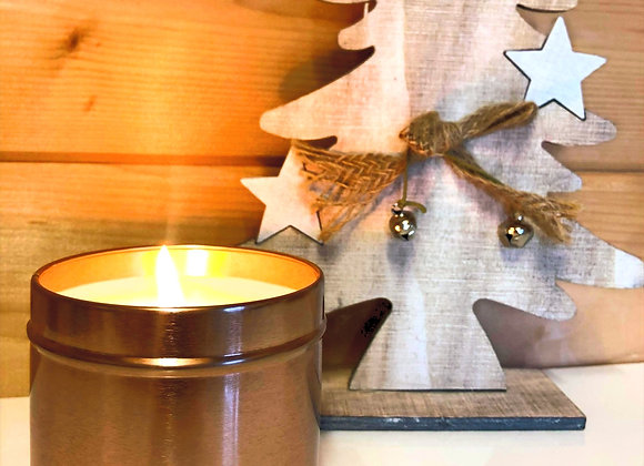 Rose Gold Tin candle - Christmas Spice