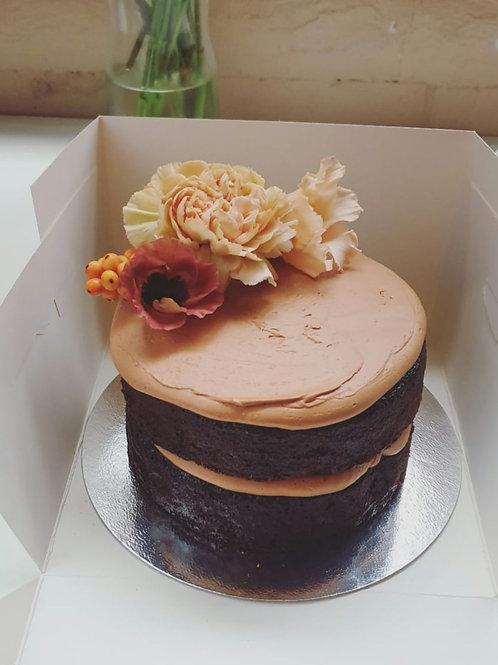 Chocolate Fudge with Raspberry Jam