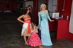Moana and Elsa in Omaha